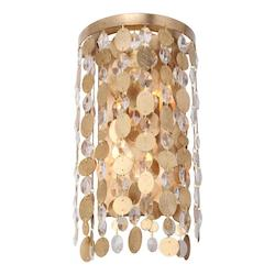 Two Light Antique Gold Wall Light - Crystorama 561-GA