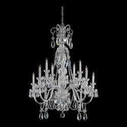 Polished Chrome / Hand Polished Traditional Crystal 10 Light Candle Style Crystal Chandelier