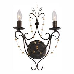 Two Light English Bronze Wall Light - Crystorama 452-EB