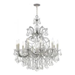 Ten Light Polished Chrome Up Chandelier - Crystorama 4438-CH-CL-MWP