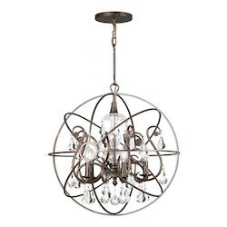 Crystorama Five Light English Bronze Open Frame Foyer Hall Fixture - 9026-EB-CL-MWP