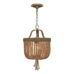 One Light Burnished Silver Up Mini Chandelier - Crystorama 273-BS