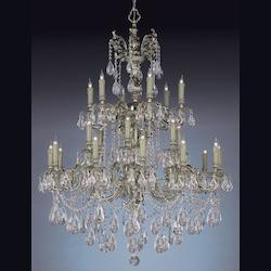 Olde Brass Novella 24 Light 40in. Wide 2 Tier Cast Brass Candle Style Chandelier with Clear Swarovski Spectra Crystal