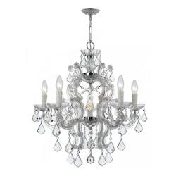 Six Light Polished Chrome Up Chandelier - Crystorama 4335-CH-CL-S