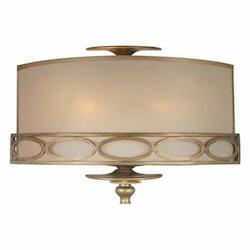 Three Light Antique Brass Semi-Sheer Shade Wall Light - Crystorama 9602-AB