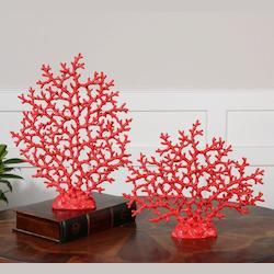 Uttermost Red Coral Sculpture Set/2 - 19801