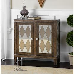 Wood Trivelin Cabinet With Bronze Mirrors - 150059
