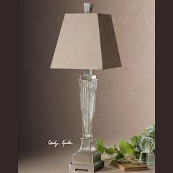 Ribbed Mercury Glass Canino Mercury Glass Pillar Table Lamp