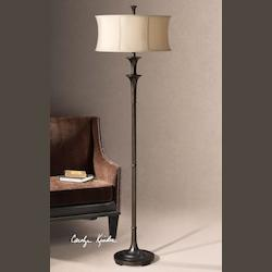 Oil Rubbed Bronze Brazoria Floor Lamp from the Carolyn Kinder Collection