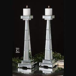 Multi Alanna Candleholders Set of 2