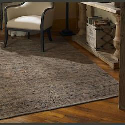 Brown Leather / Jute 5 X 8 Area Rug - 150114