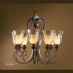 Distressed Spice 8 Light Single Tier Chandelier From The Elba Collection