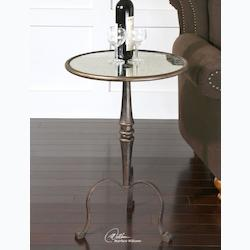 Coffee Bronze Anais Accent Table - 150134