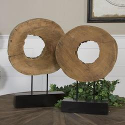 Ashlea Wooden Sculptures S/2 - 150148