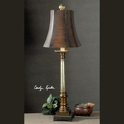 Warm Bronze And Silver Trent Buffet Lamp