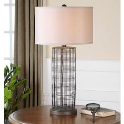 Dark Rustic Bronze Engel 1 Light Table Lamp