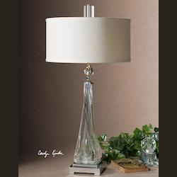 Uttermost Grancona Twisted Glass Table Lamp - 26294-1