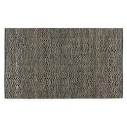 Black Leather / Jute 5 x 8 Taryn Woven Leather Rug