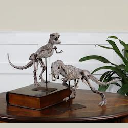 Mahogany Dark Mahogany T-Rex Figurines - Set Of 2 - 150515