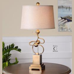 Brushed Brass Apollonia 1 Light Table Lamp
