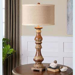 Distressed Ivory Montoro 1 Light Table Lamp