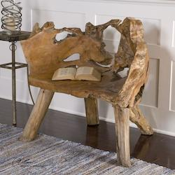 Solidly Constructed Teak Wood Chair - 150536