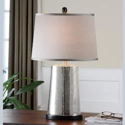 Glass Arnez Table Lamp with Round Shade