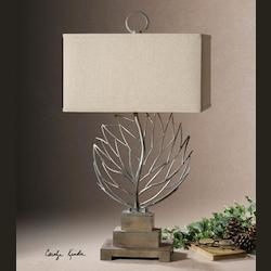 Burnished Beige Argento 1 Light Table Lamp