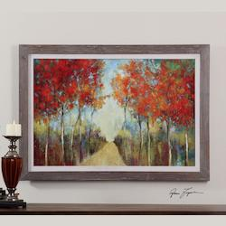 Reclaimed Wood Nature's Walk 41.625in.W x 29.625in.H Impressionist Painting