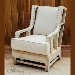 Wood And Linen Schafer Solid Wood Chair