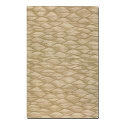 Golden Beige 5 x 8 Berkane Hand Tufted Wool Rug