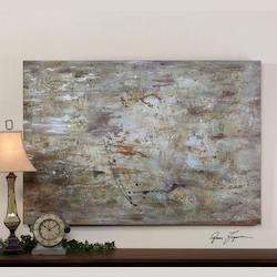 Hand Painted Canvas Middle 48In.W X 70In.H Abstract Painting