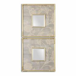 Silver Gray Evelyn Mirror Set of Two Square Mirrors