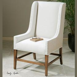 Dalma Linen Wing Chair - 150712