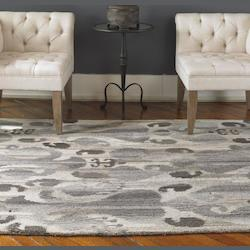 Gray 5 x 8 Sepino Low Cut Wool Rug