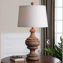 Via Lata Solid Wood Table Lamp - 150751