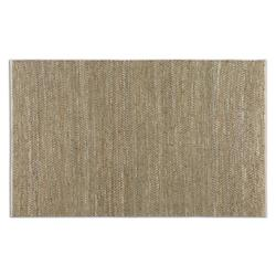 Beige / Gray 5 x 8 Tobais Hand Woven Leather Rug