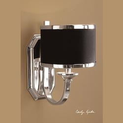 Silver Plated Single Light Wall Sconce from the Tuxedo Collection