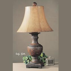 Weathered Wood Woodman Dark Table Lamp