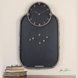 Riveter Clock And Chalkboard - 150937