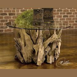 Natural Wood Driftwood Cocktail Table