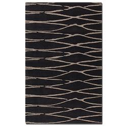 Dark Chocolate 5 x 8 Temara Hand Tufted Wool Rug