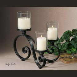 Arla Collection Black Crackle Candleholder 19739