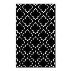 Black 5 x 8 Devonshire Flat Weave Wool Rug