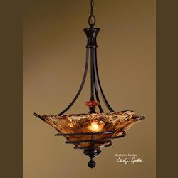 Oil Rubbed Bronze 3 Light Bowl Pendant from the Vitalia Collection