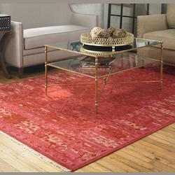Red / Beige 6 x 9 Antalya Hand Knotted Wool Rug