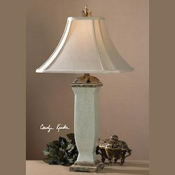 Light Blue Gray Wash Reynosa Table Lamp