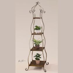 Burnished Silverleaf Lilah Etagere