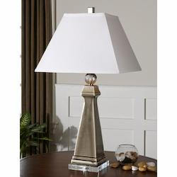 Smoke Gray Colobraro 1 Light Table Lamp
