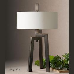 Antiqued Plated Brushed Bronze With Gold Mondovi 2 Light Table Lamp